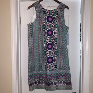 NWT—London Time Multicolor Sheath Dress